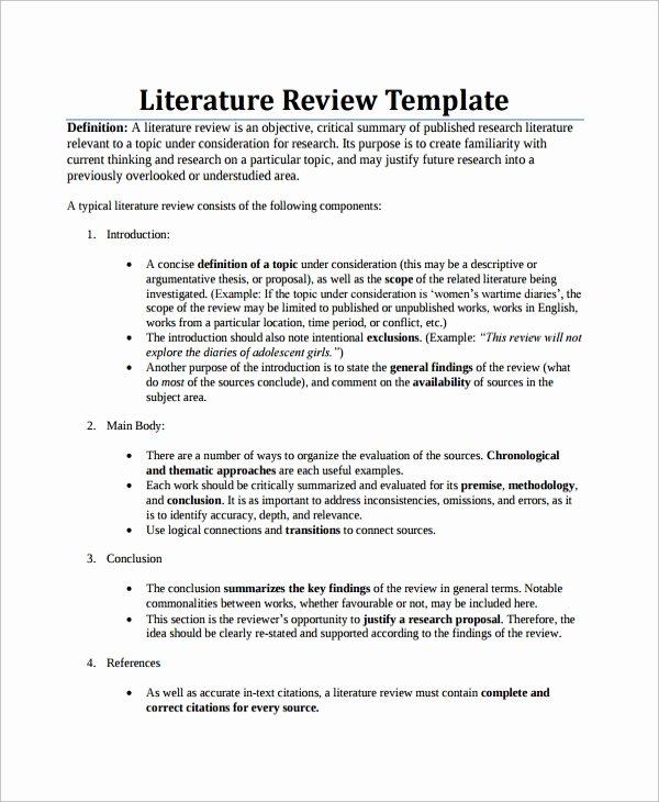 8 Sample Literature Reviews