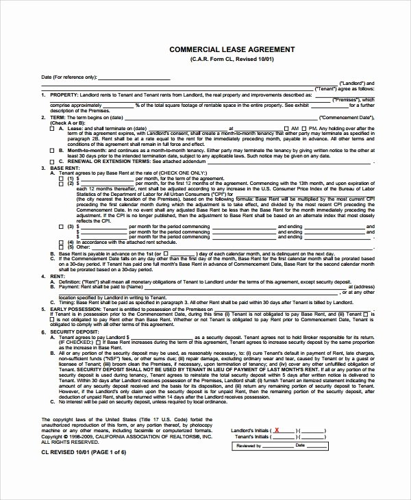8 Sample Mercial Lease Termination Agreements
