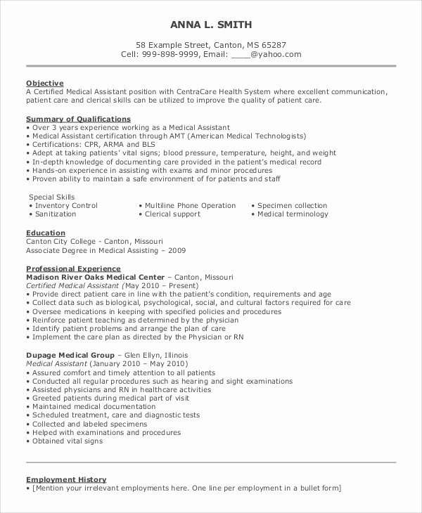 8 Sample Objective On Resumes