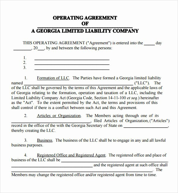 8 Sample Operating Agreement Templates to Download