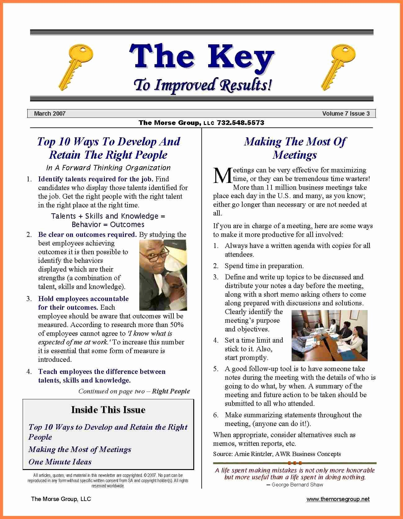 8 Sample Pany Newsletter Templates