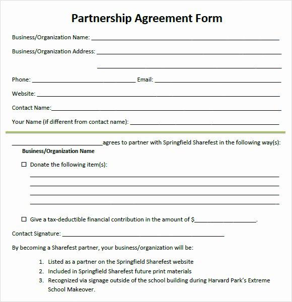 8 Sample Partnership Agreements