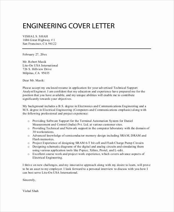 8 Sample Professional Cover Letters