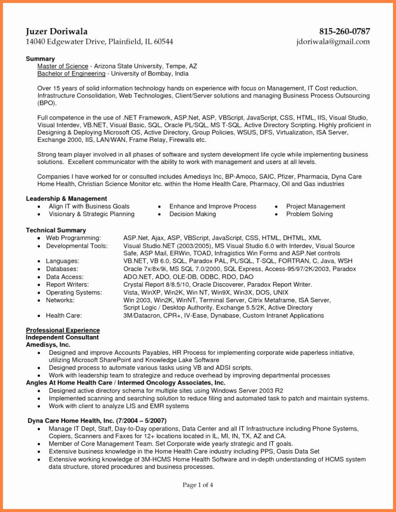 8 Sample Resume for Medical Billing Specialist