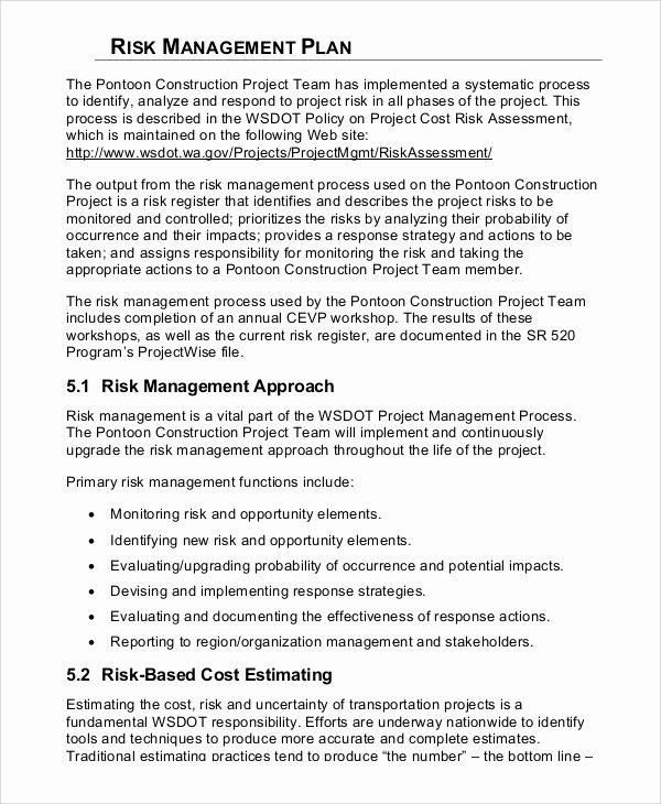 8 Sample Risk Management Plans