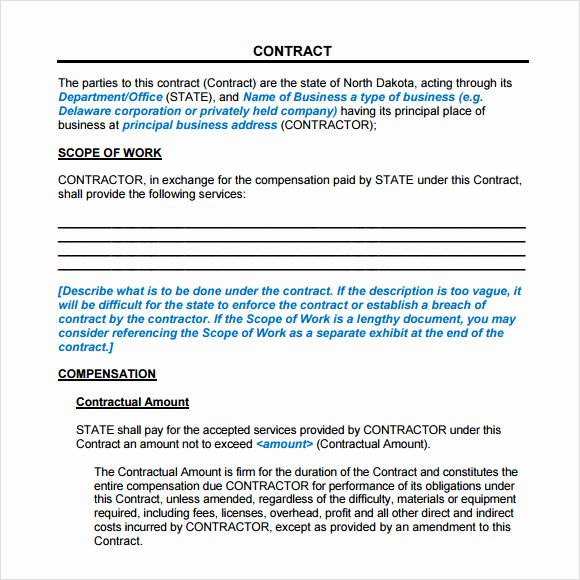 8 Sample Service Agreements