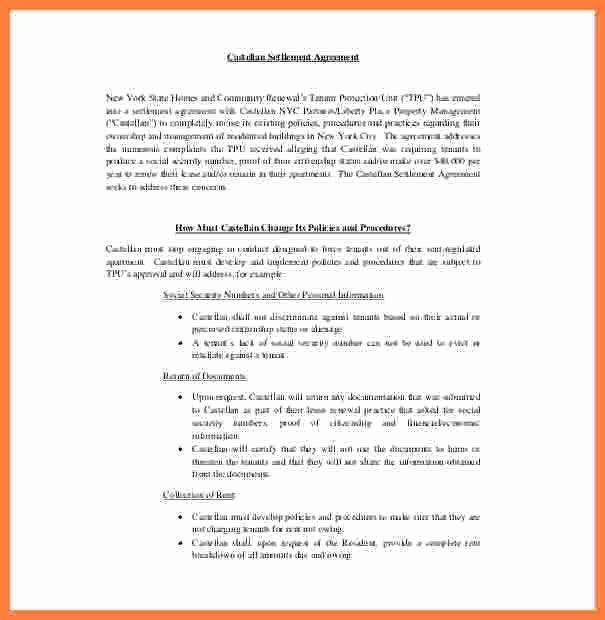 8 Sample Settlement Agreement