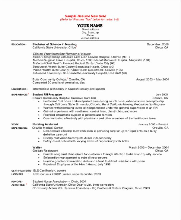 8 Sample Student Nurse Resumes