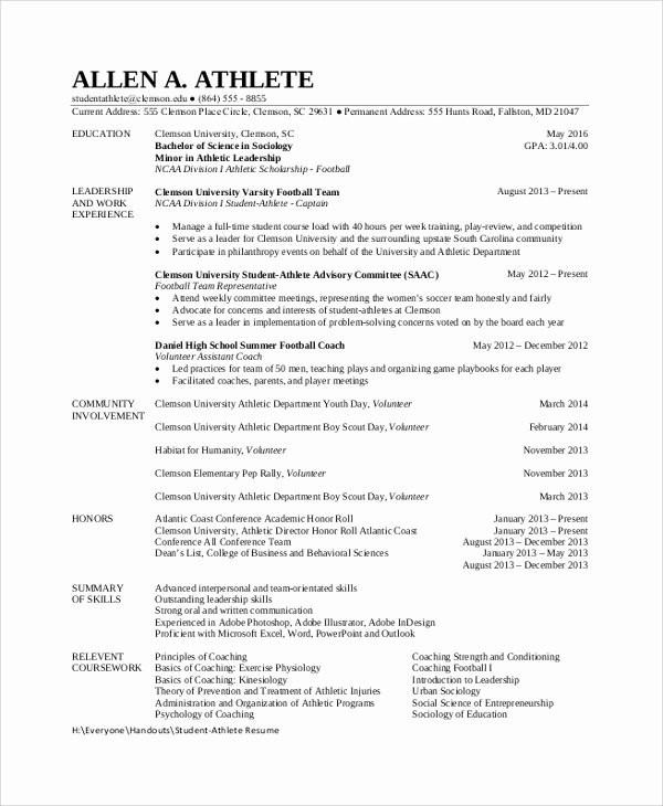 8 Sample Student Resumes
