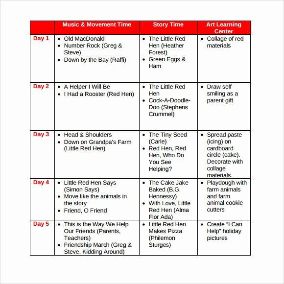 8 Sample toddler Lesson Plans