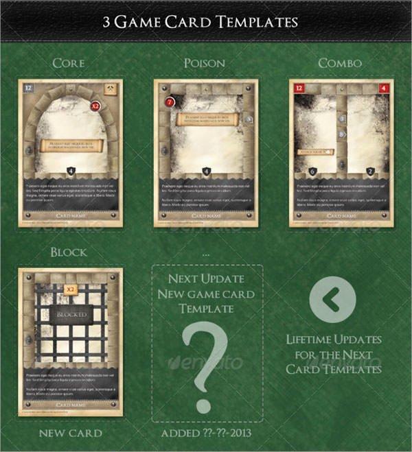 8 Sample Trading Card Templates