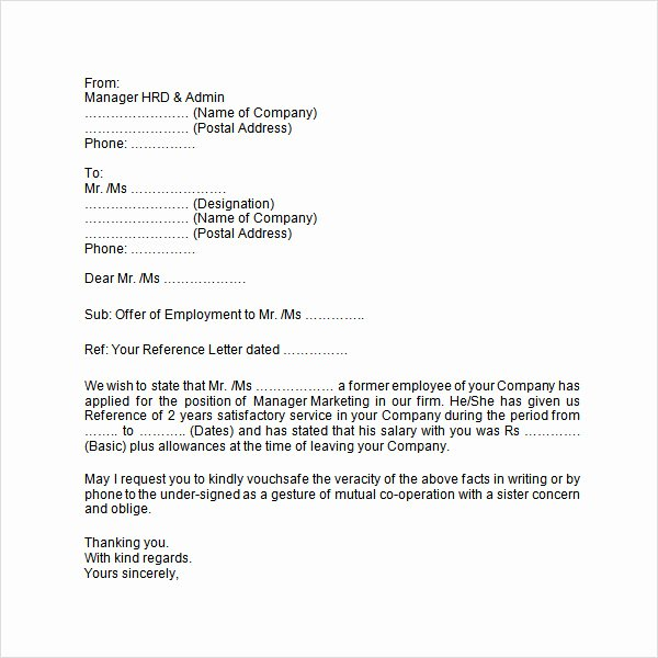 8 Sample Useful Employment Letters