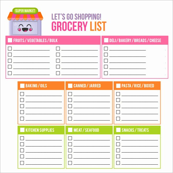 8 Shopping List Samples Examples Templates
