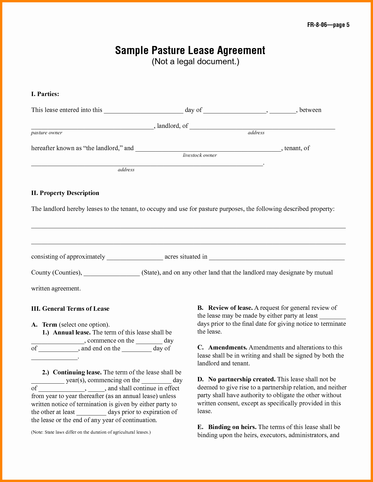 8 Simple One Page Lease Agreement Template