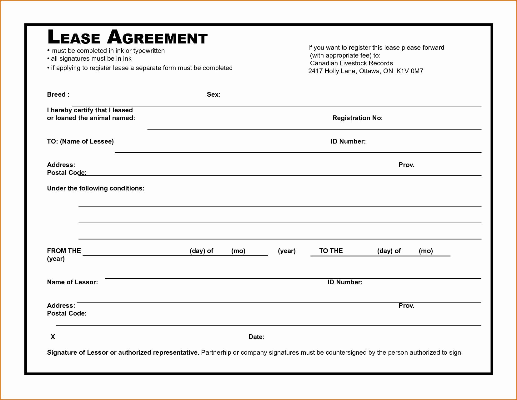 8 Simple Rental Agreement Template