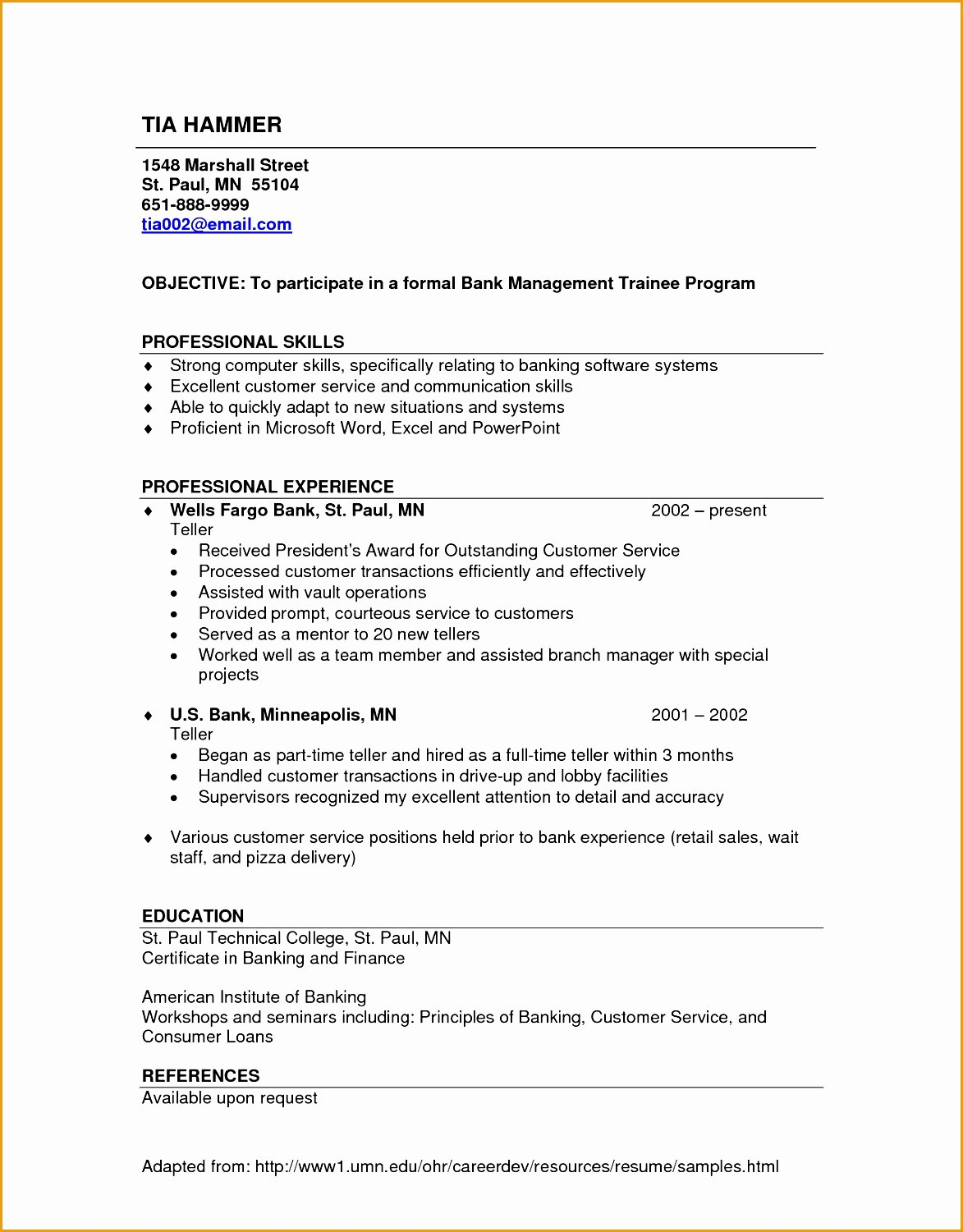 8 Simple Resume with No Experience Free Samples