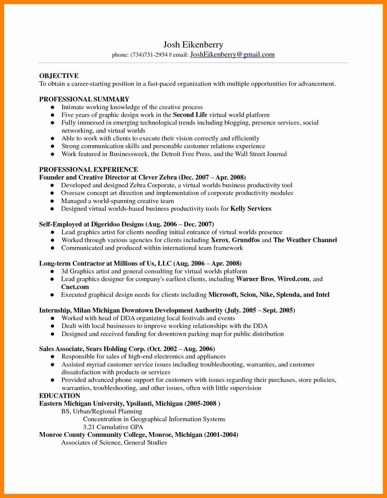 8 Skills Based Resume Example