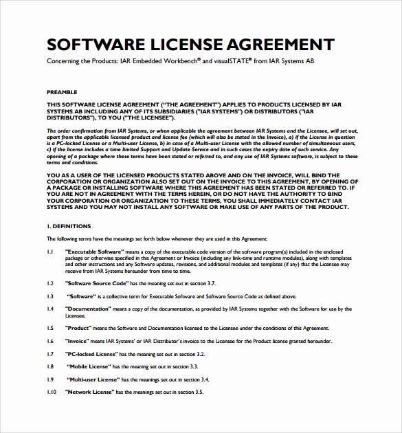 8 software License Agreement Samples