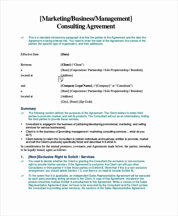 8 Standard Consulting Agreement Samples