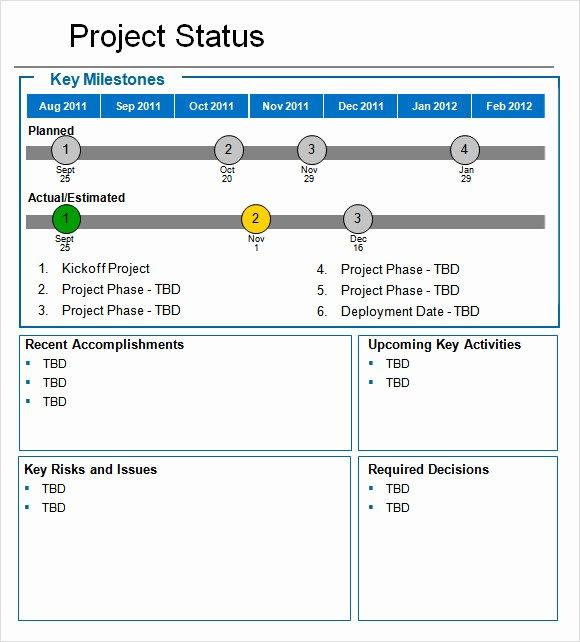 8 Status Report Samples