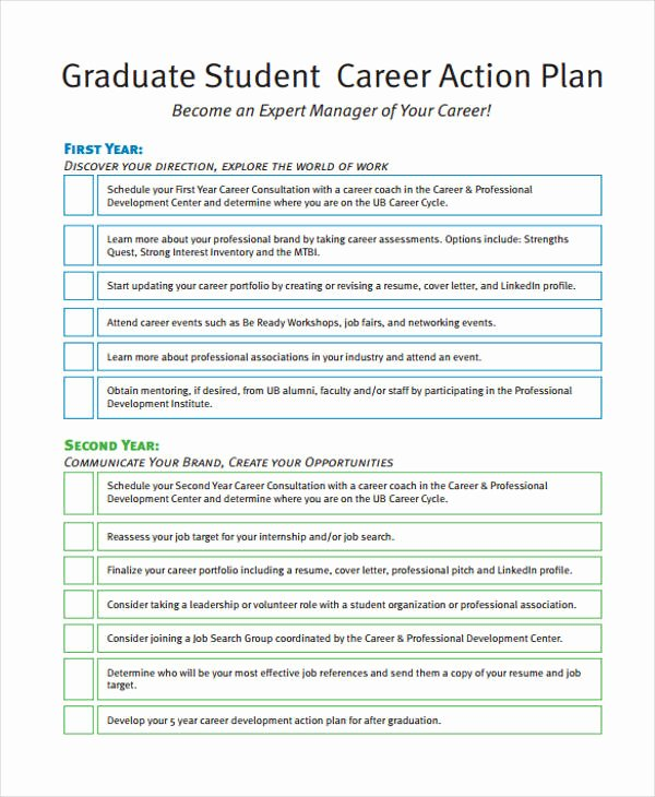 student action plan template