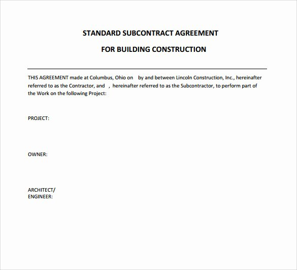 8 Subcontractor Contract Templates to Download for Free