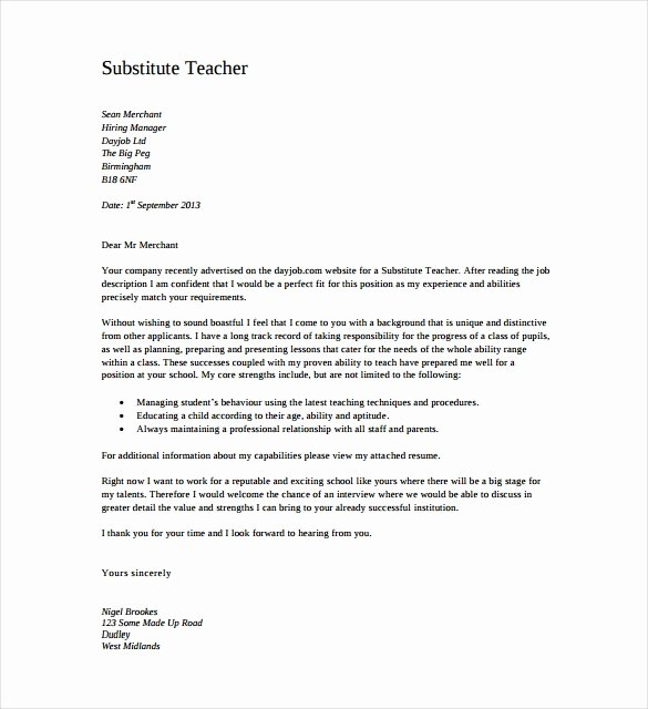 8 Teacher Cover Letter Templates Free Sample Example