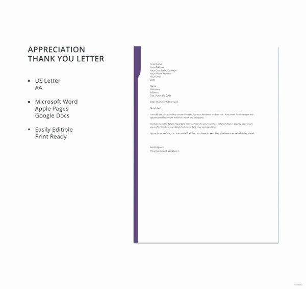 8 Thank You Letter for Appreciation Pdf Doc