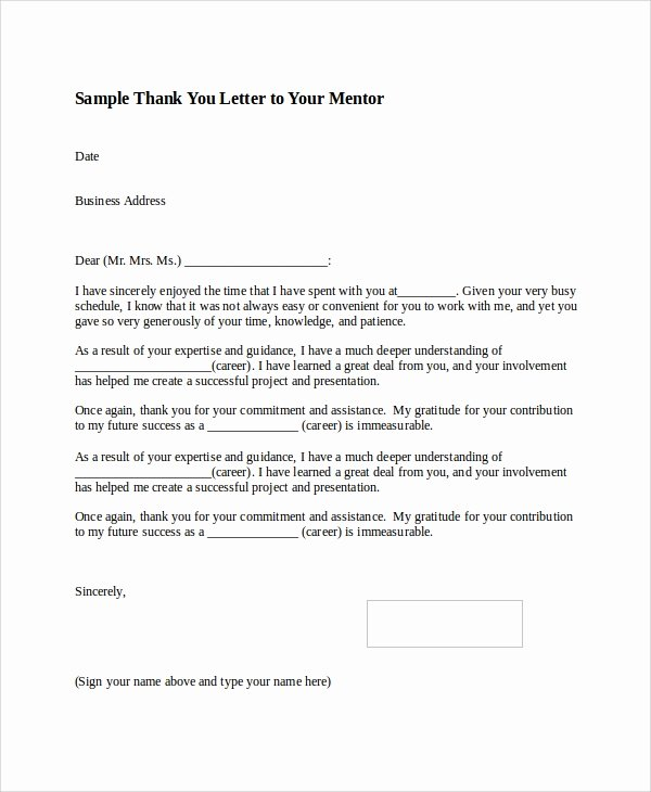 8 Thank You Letter format Samples