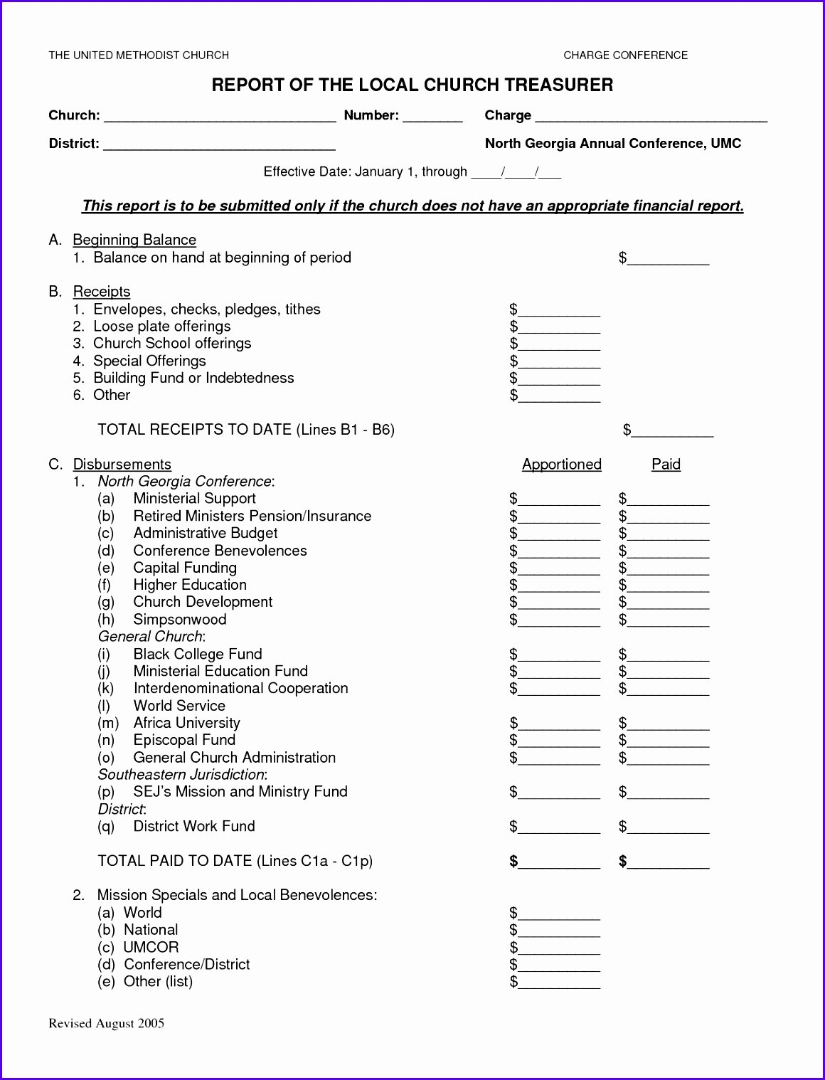 8 Treasurer Report Template Excel Exceltemplates
