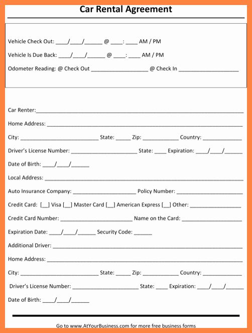 8 Vehicle Lease Agreement – Latter Example Template
