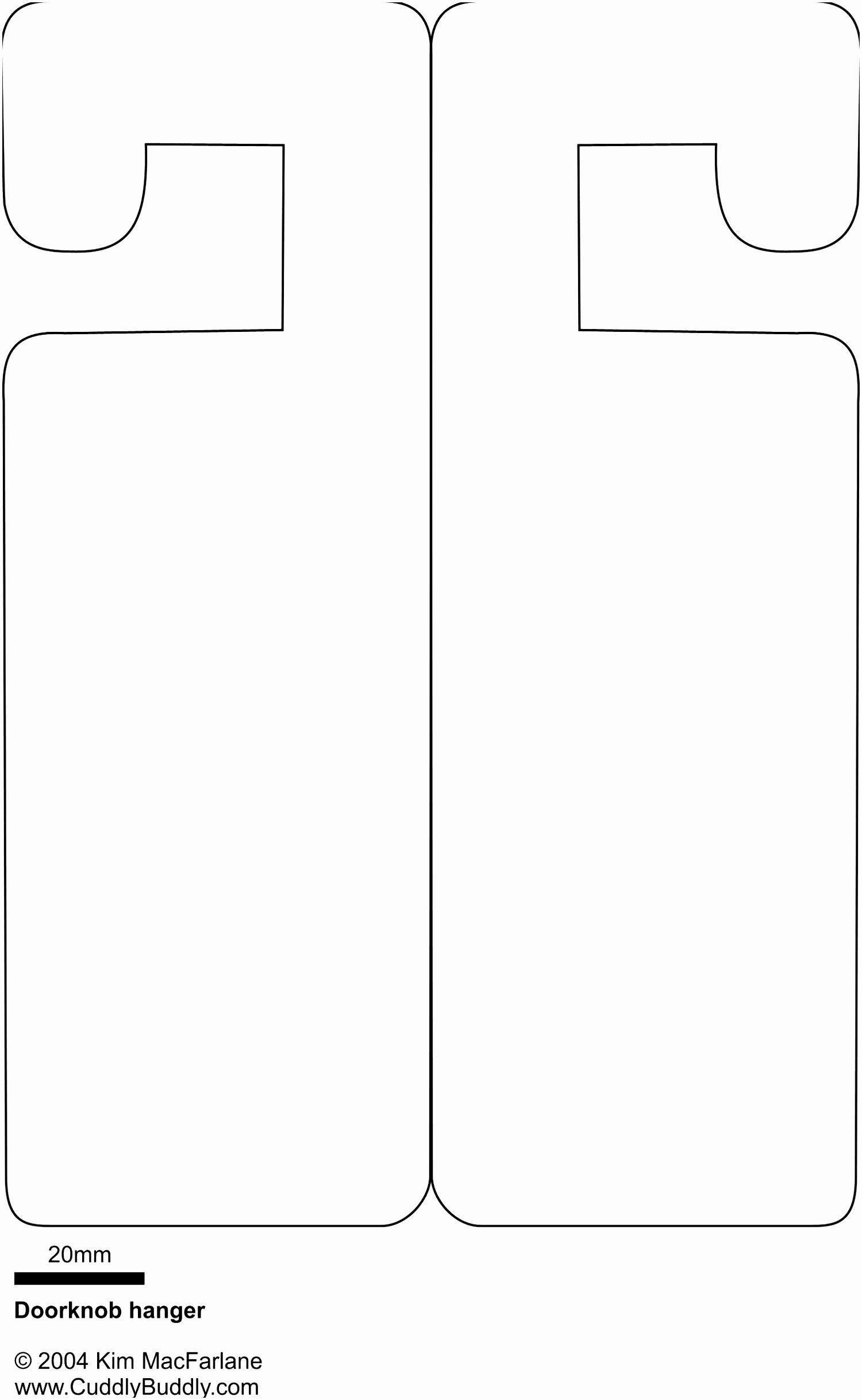 8 Wedding Door Hanger Template for Word Poure