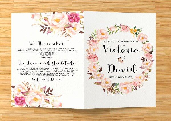 8 Wedding event Program Templates Psd Vector Eps Ai