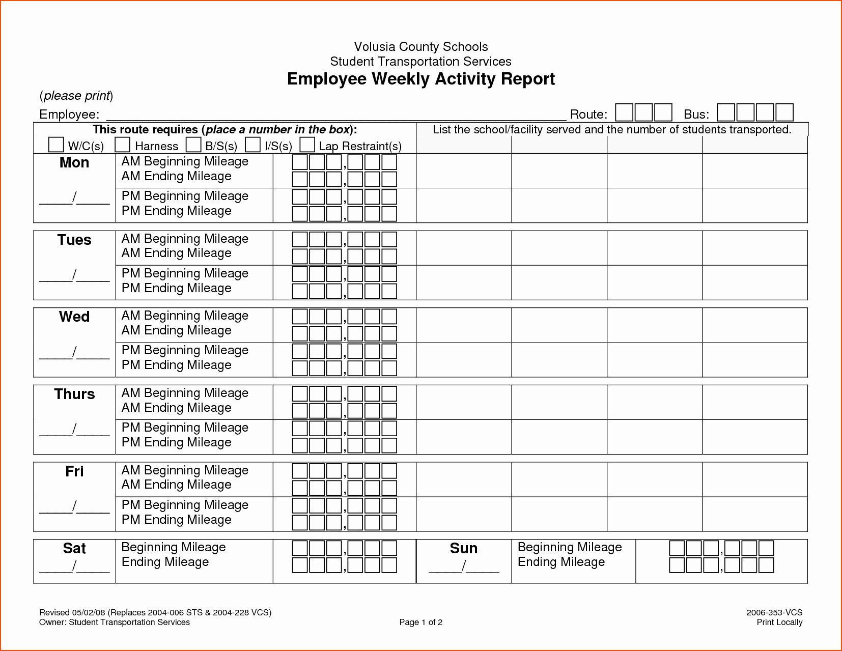 8 Weekly Activity Report Template Bookletemplate
