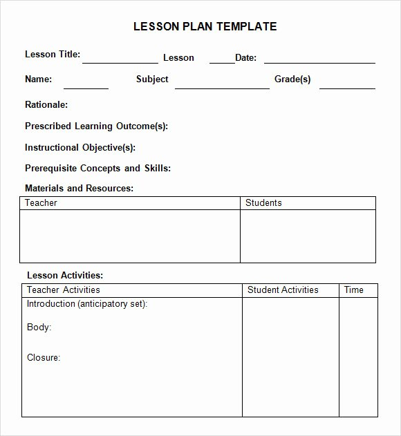 8 Weekly Lesson Plan Samples