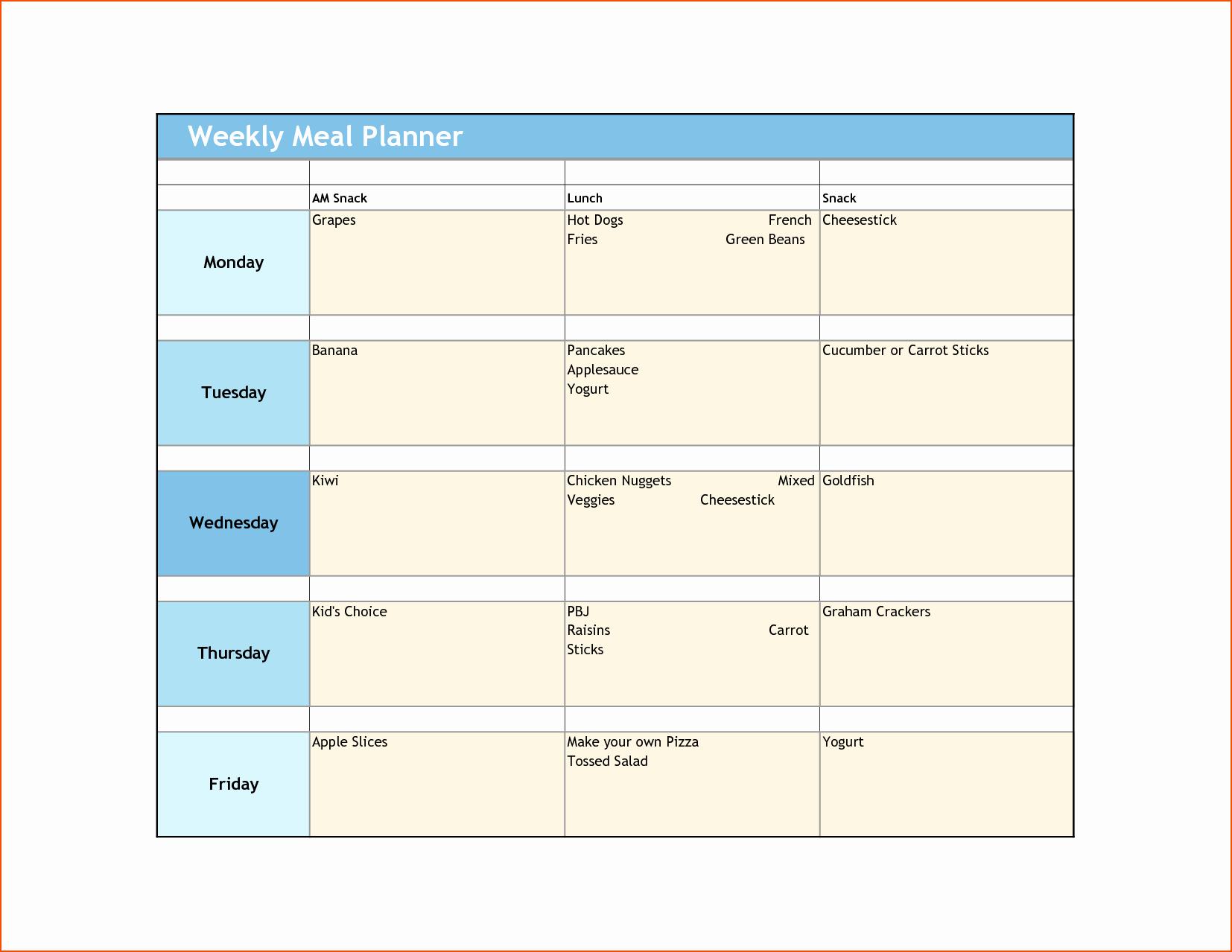8 Weekly Meal Planner Template Bookletemplate