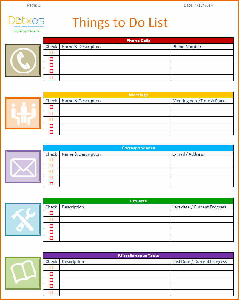 8 Weekly to Do List Template