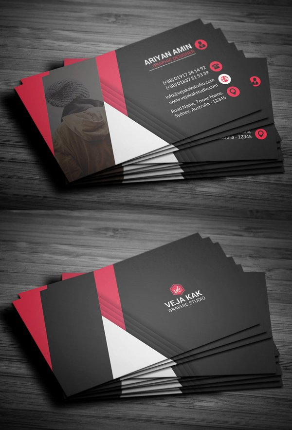 80 Best Of 2017 Business Card Designs Design