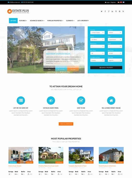 80 Best Real Estate Website Templates Free & Premium