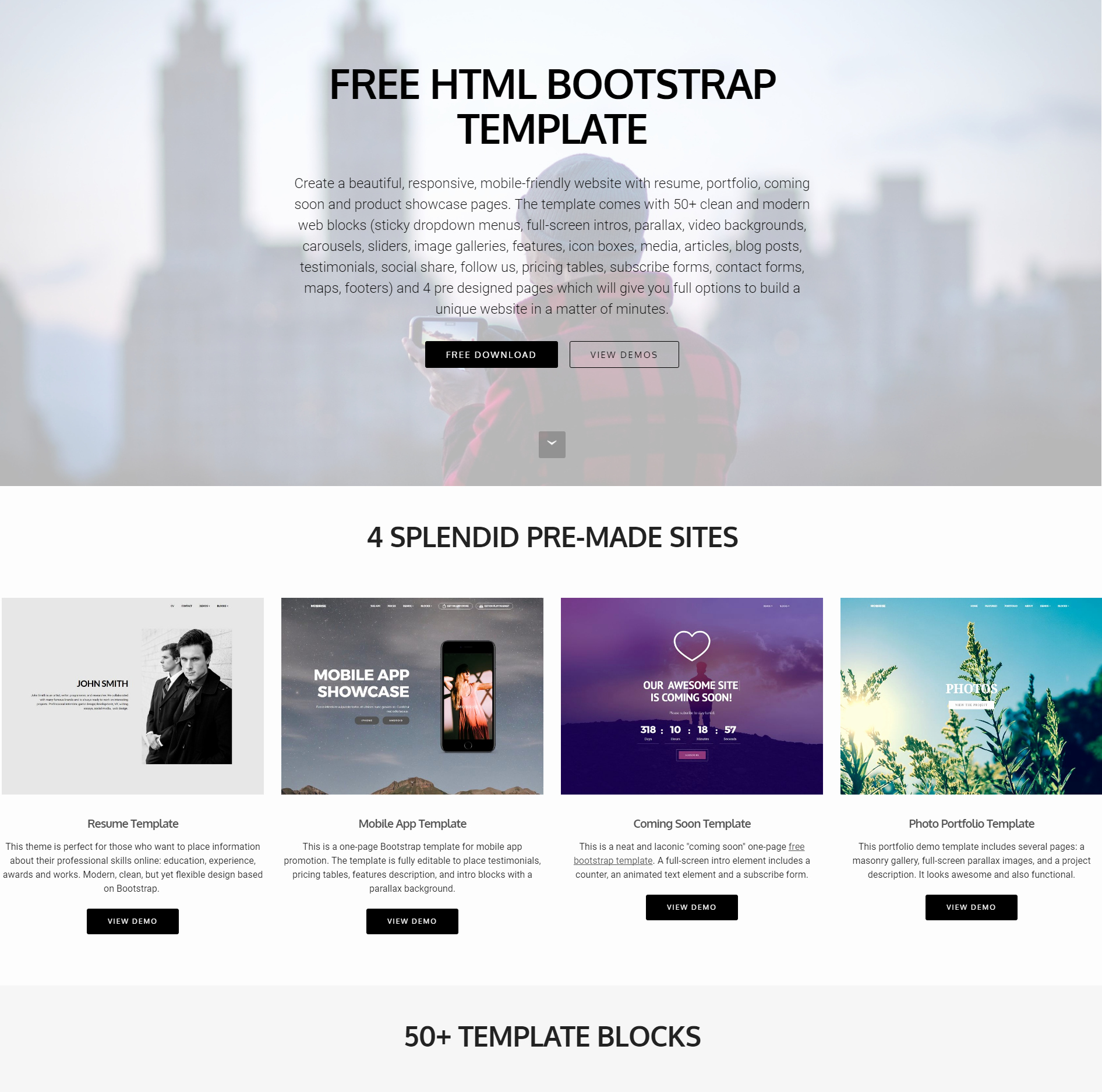 80 Free Bootstrap Templates You Can T Miss In 2019