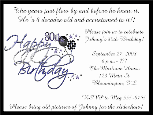 graphic regarding 80th Birthday Invitation Templates Free Printable called 26 80th Birthday Invitation Templates Absolutely free Pattern Latter