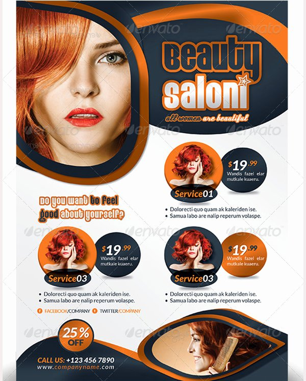 83 Beauty Salon Flyer Templates Psd Eps Ai