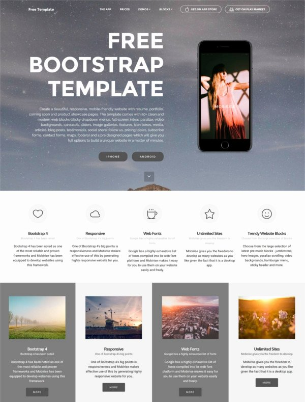 83 Free Bootstrap themes & Templates
