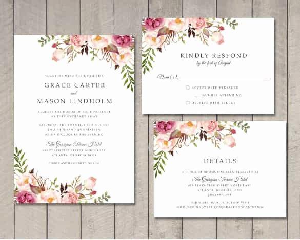 85 Wedding Invitation Templates Psd Ai