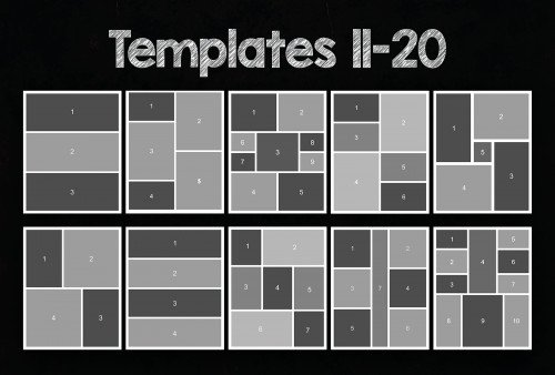 8x10 Collage Templates Pack 25 Psd Templates