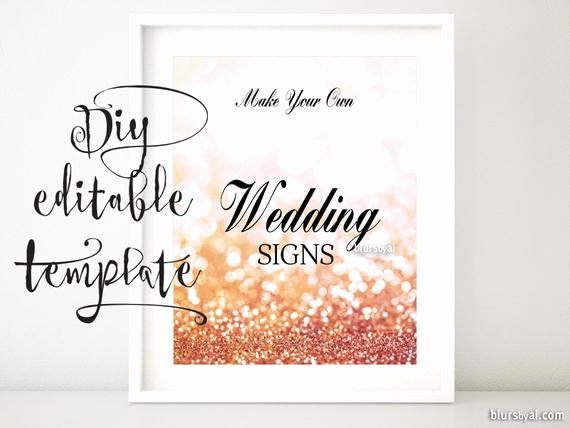 8x10 Diy Printable Sign Template for Word Make Your
