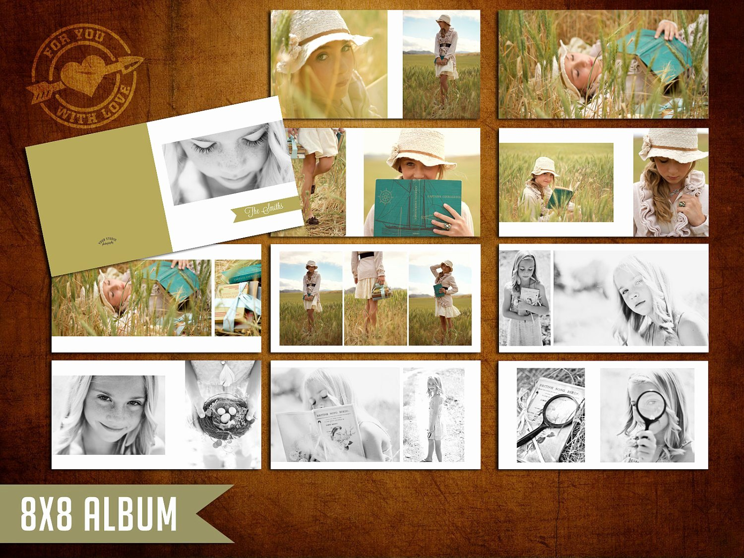 8x8 Mod Album Template for Graphers by 4uwlove On Etsy