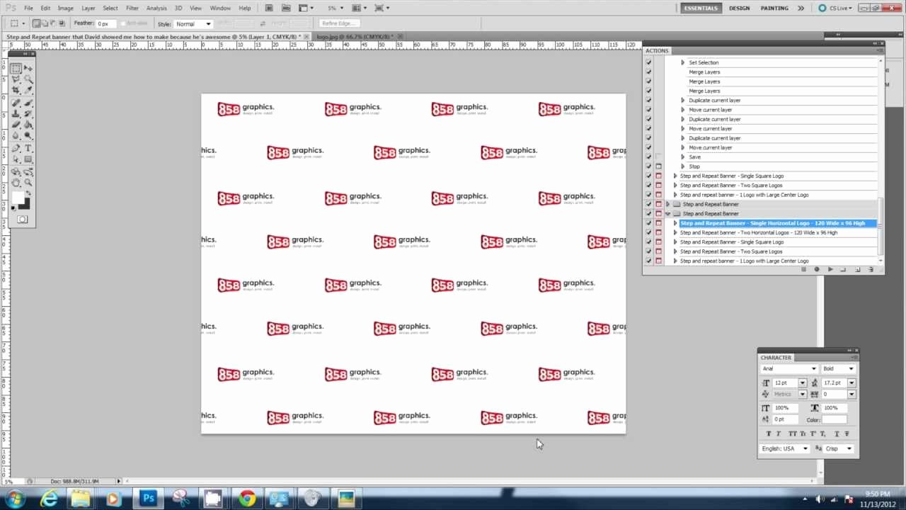 8×8 Step and Repeat Template Templates Data
