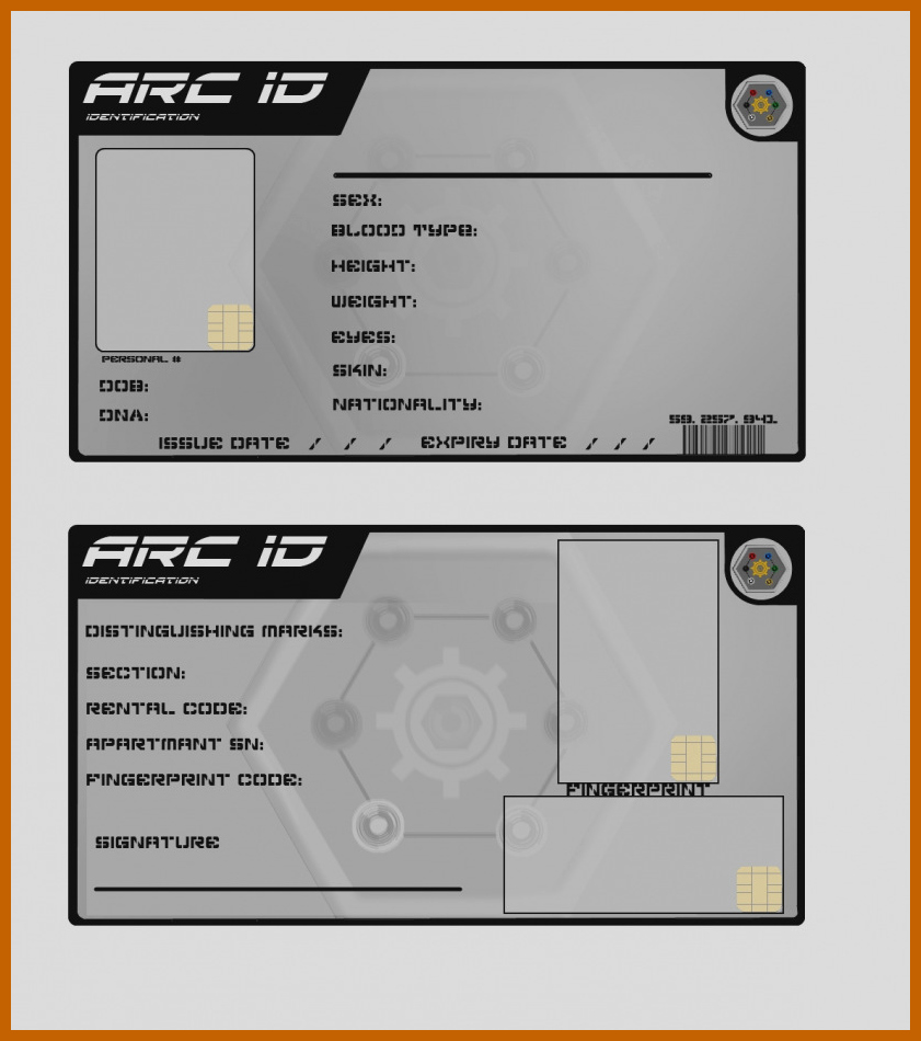 9 10 Blank Id Card Template