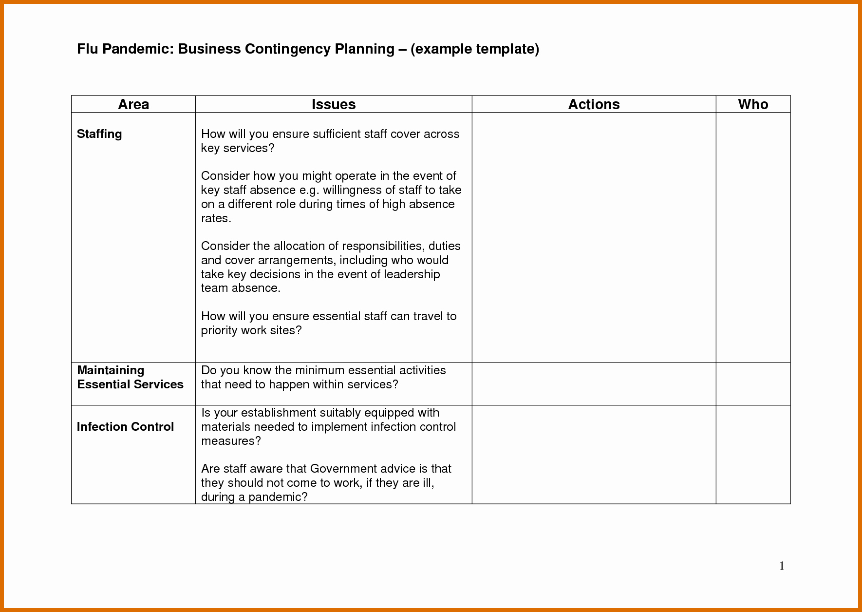 9 10 Contingency Plan Examples